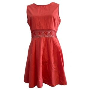 Koton Coral Lace Cutout Waist Dress